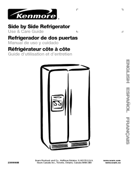 Side by Side Refrigerator Refrigerador de dos puertas R_frig_rateur