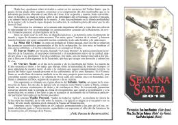 Semana Santa 2012 - Iglesia Parroquial San Pedro Apóstol en Buñol