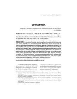 MODELO DE ATENCIÓN A LA MUJER CLIMATÉRICA (MACLI)