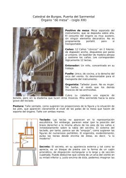 """Catedral de Burgos, Puerta del Sarmental Órgano """"de mesa"""""""