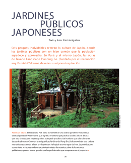JARDINES PÚBLICOS JAPONESES - Patricia Aguilera Paisajismo