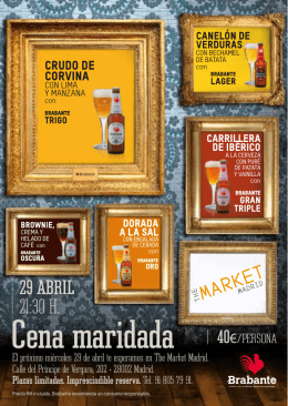 Cena maridada - The Market Madrid