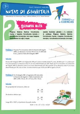 Nota 2 - Olimpíada Matemática Argentina