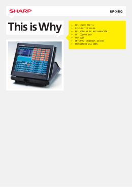 UP-X500 - UPX500 - Cajas Registradoras Sistemas POS