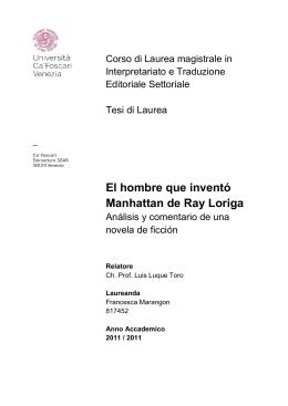 El hombre que inventó Manhattan de Ray Loriga