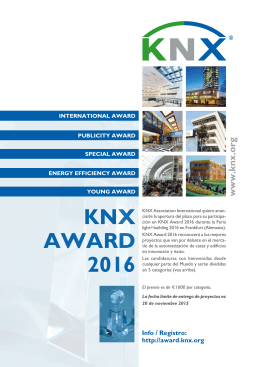 KNX AWARD 2016 - KNX Association