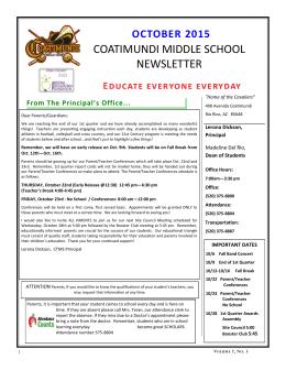 coatimundi middle school newsletter