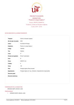 """Grupo: GRUPO 2(946570) ASIGNATURA: """"Poesía en Lengua"""