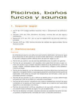 Piscinas Baños Turcos y Saunas - Secretaría Distrital de Salud
