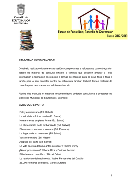 Material de apoyo en la Biblioteca Municipal