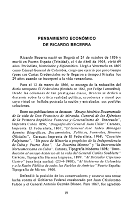 Tomo I. Pensamiento económico de Ricardo Becerra