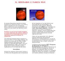 EL HERCÓLUBUS O PLANETA ROJO