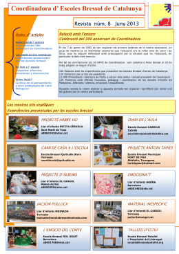 Juny de 2013 - Coordinadora d`Escoles Bressol de Catalunya