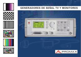 GENERADORES DE SEÑAL TV Y MONITORES