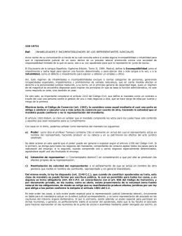 Ref. INHABILIDADES E INCOMPATIBILIDADES DE LOS