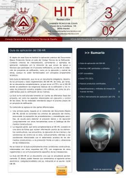 Julio 2009. - Consejo general de arquitectura técnica de España