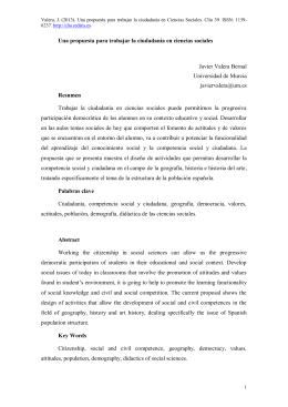 Una propuesta para trabajar la ciudadanía en ciencias