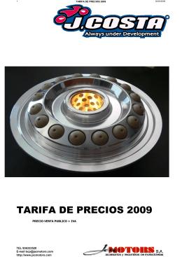 TARIFA J COSTA 2009x