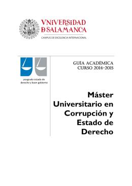 Corrupción y Estado de Derecho