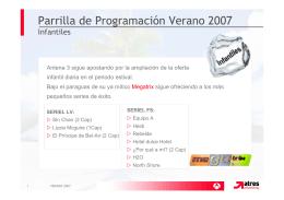 Parrilla de Programación Verano 2007