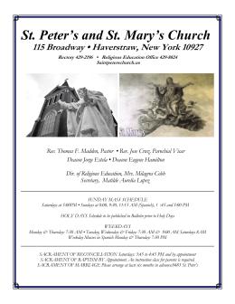September 26, 2015 - St.Peter`s & St.Mary`s Church