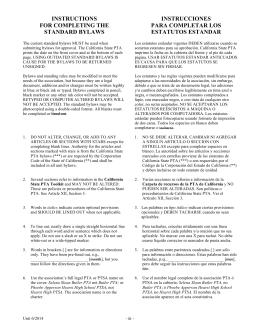Instrucciones Para Completar Los Estatutos Estandar