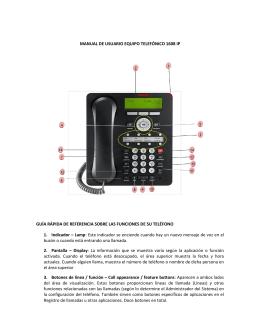 Manual de usuario del equipo telefónico 1608 IP