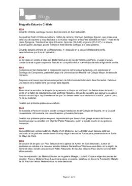 Biografía Larga - Museo Chillida-Leku