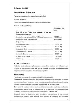 Trifamox IBL 500 Amoxicilina - Sulbactam
