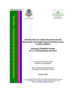 XIX Reunión de Líderes Económicos del Mecanismo