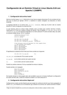 Configuración de un Dominio Virtual en Linux Ubuntu 8.04 con