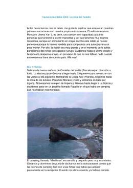 Vacaciones Italia 2004: La ruta del helado Antes de comenzar con