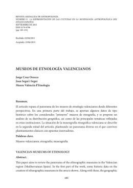museos de etnología valencianos - Revista Andaluza de Antropología