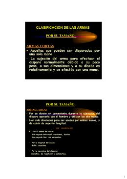 CLASIFICACION DE LAS ARMAS POR SU TAMAÑO : ARMAS