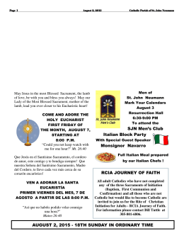 August 2, 2015 - St. John Neumann Catholic Church