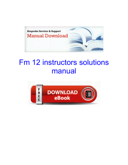 Fm 12 instructors solutions manual