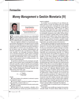 Money Management o Gestión Monetaria (IV)