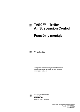 TASC™ – Trailer Air Suspension Control Función y montaje
