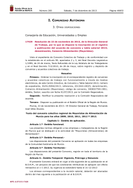 17429 Resolución de 22 de noviembre de 2013, de la Dirección