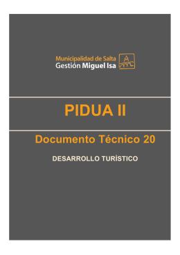 DT 20 - Desarrollo Turístico - Colegio de Arquitectos de Salta