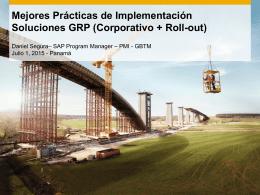 Mejores Prácticas de Implementación Soluciones GRP