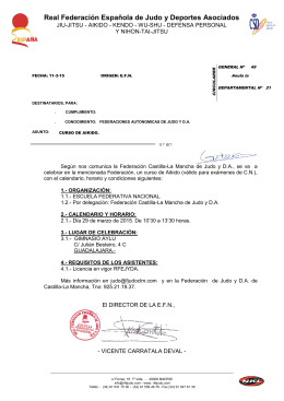 Curso Aikido Fed. Castilla La Mancha