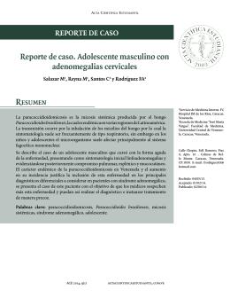 Reporte de caso. Adolescente masculino con adenomegalias