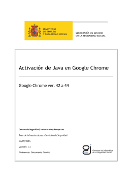 Activación de Java en Google Chrome