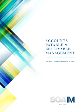 ACCOUNTS PAYABLE & RECEIVABLE MANAGEMENT