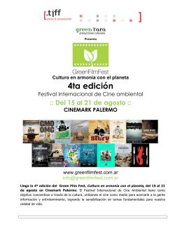 Gacetilla - Green Film Fest