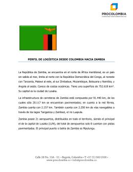 Perfil Logístico de Zambia