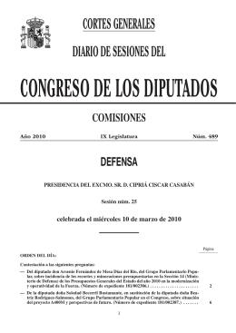 defensa - Congreso de los Diputados