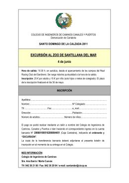 EXCURSIÓN AL ZOO DE SANTILLANA DEL MAR 4 de junio