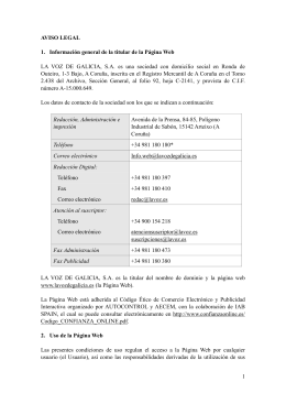 AVISO LEGAL (vsc7) - La Voz de Galicia